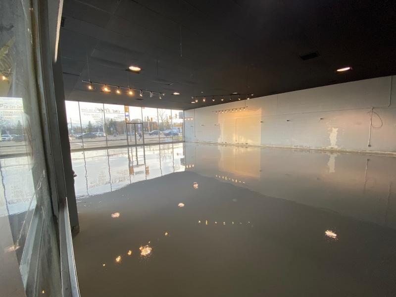 Gallery floor refinished