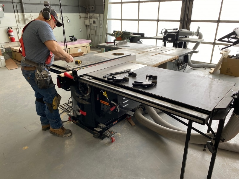 Busy on the Table Saw