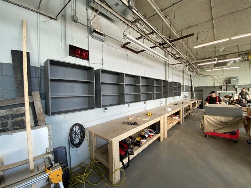Benches and shelves