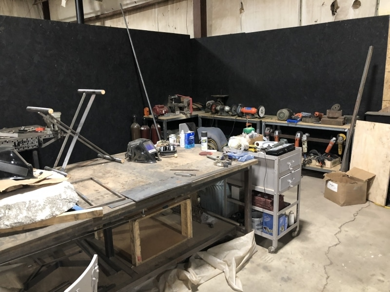 The welding area