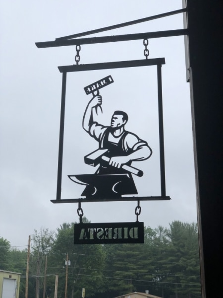 The famous image outside the shop