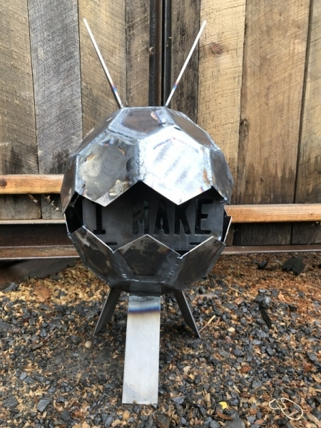 Welded from a D20 template